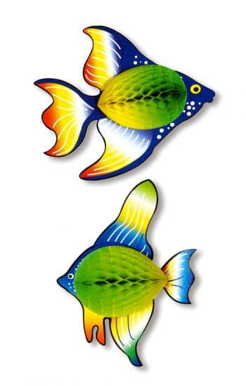 Honeycomb fish green / yellow