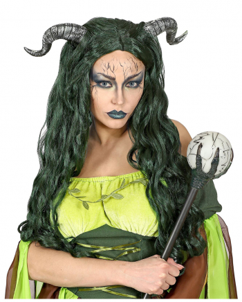 Forest Witch Wig With Horns
