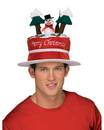 Christmas hat with snowman