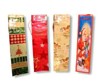 Weihnachtsgeschenktüten für Flaschen 5 Stück