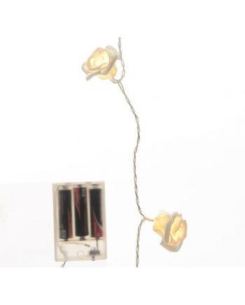 Rosen Lichterkette mit LEDs weiß