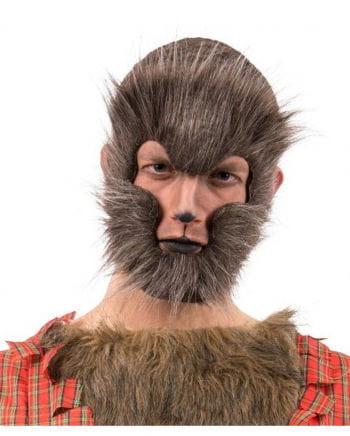 Werwolf Halbmaske meliert