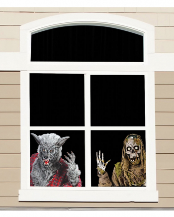 Werwolf und Skelett Fensterfolie 60cm