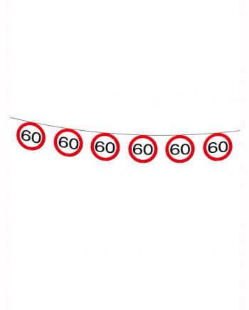 Wimpelkette traffic sign 60