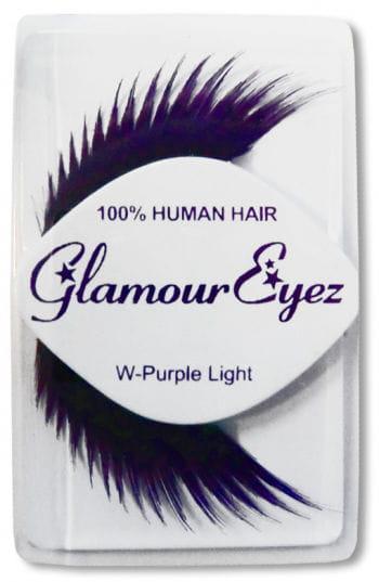 Künstliche Wimpern aus Echthaar - violett