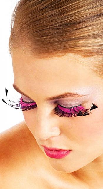 Wimpern schwarz / pink