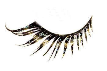 Eyelashes Black with Glitter