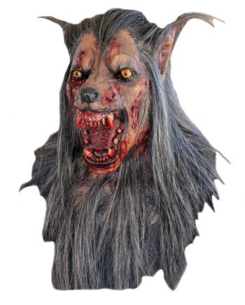 Werwolf Maske Deluxe mit langen Haaren