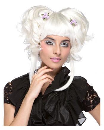 Damen Perücke Yuki weiß