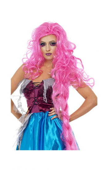 Modern Rapunzel wig pink
