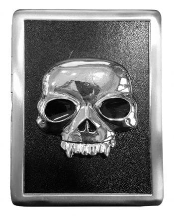 Cigarette box with vampire skull