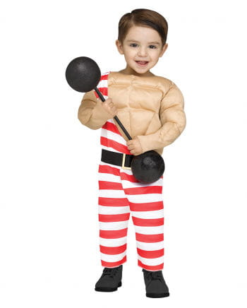 Circus muscleman young children Costume