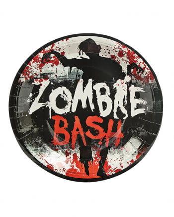 Große Zombie Pappteller Bash 8 St.