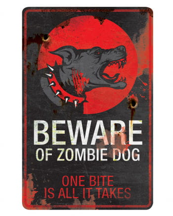 Zombie Dog warning sign