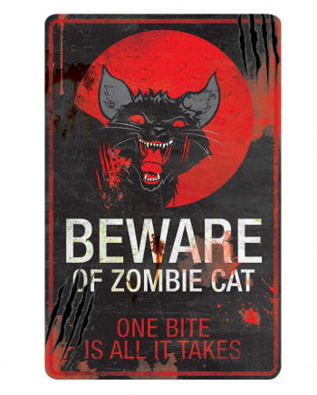 Zombie Cat Warning Sign