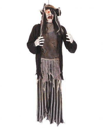 Zombie Pirate hanging figure with LED 144 cm