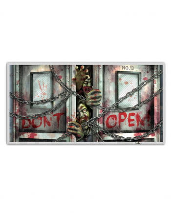 "Zombie banner ""Do not open"""