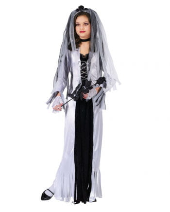 Zombie Braut Kinderkostüm Medium