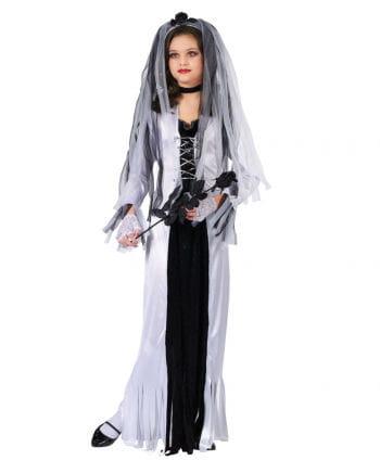 Zombie Braut Kinderkostüm Small