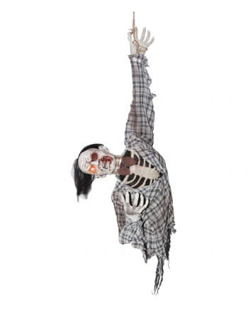 Zombie Ghoul Hanging Figure With Movement & Sound