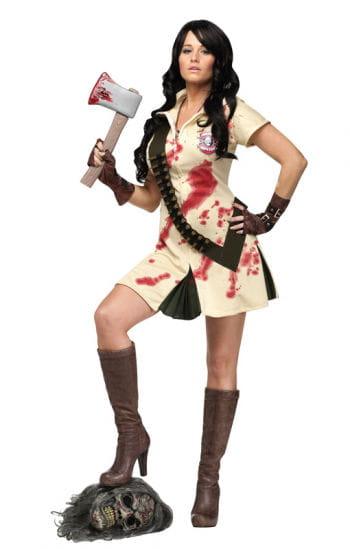 Zombie Jägerin Kostüm