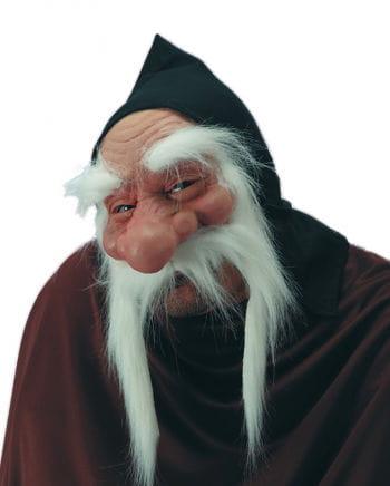Dwarf half mask with a white beard