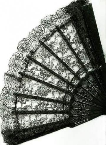 Fan made lace black
