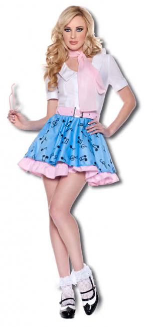 Rock n Roll Girl Premium Costume. M