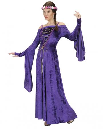 Mittelalter Burgfräulein Kostüm violett