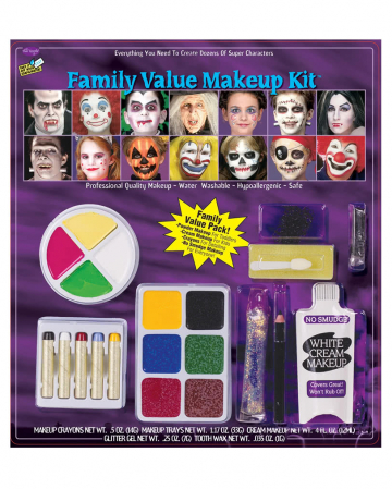 21-teiliges Fasching & Halloween Make-up Set