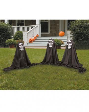 3 Kleine Totenkopf Geister Gartendeko