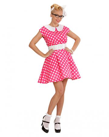 50er Jahre Polka Dot Kleid Gr. L