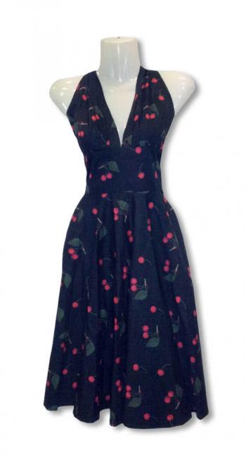 50s dress with cherries