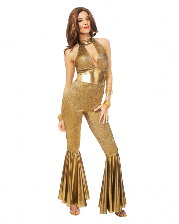 70s Disco Diva Kostüm gold