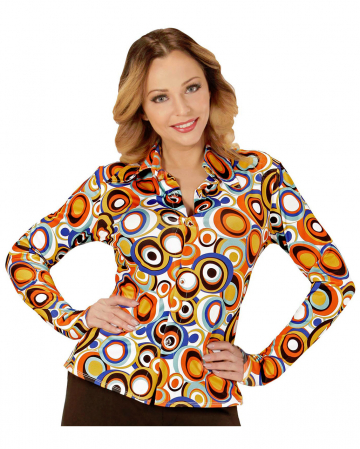 70s Groovy Costume Blouse Bubbles