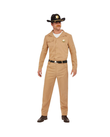 80er Jahre Retro Sheriff Kostüm für Herren