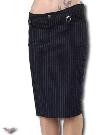Pinstripe Skirt Knee Length Size 32