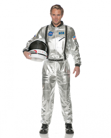 Astronauts Men Costume silver