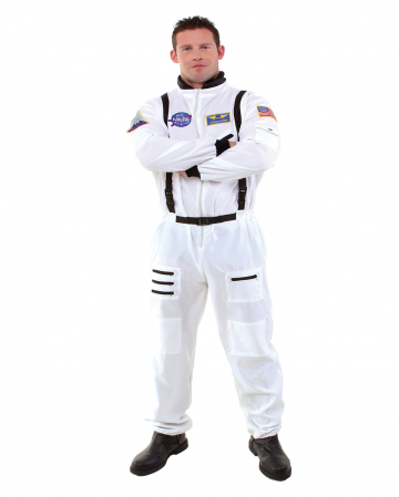 Astronaut Jumpsuit Costume Plus Size white