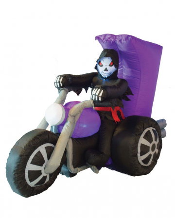 Inflatable Grim Reaper On Motorcycle
