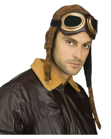 Aviator Fliegermütze mit Brille