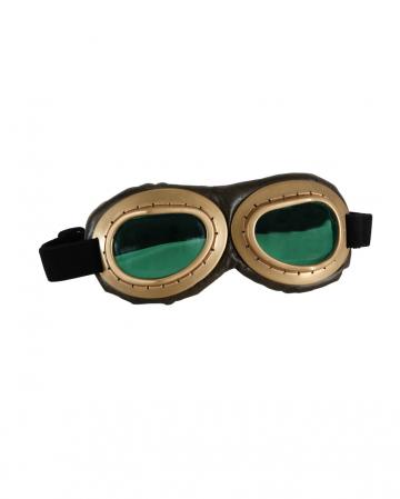 Aviator Glasses Gold / Brown - Green glasses
