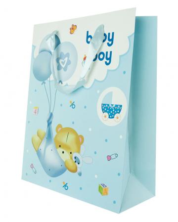 Baby Boy Geschenktasche mit Bär