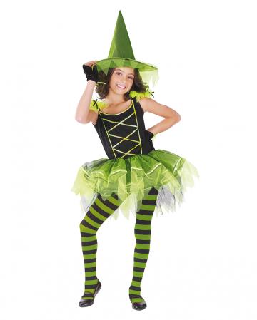 Ballerina Witch Child Costume Black-green
