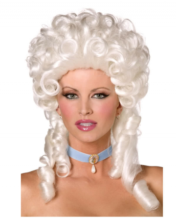 Ladys Wig Silver White