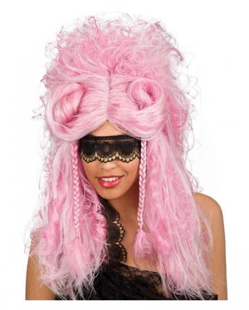 Veneziano baroque wig pink / silver