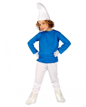 Blauer Zwerg Kinderkostüm