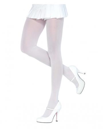 Blickdichte Nylon Strumpfhose Weiß