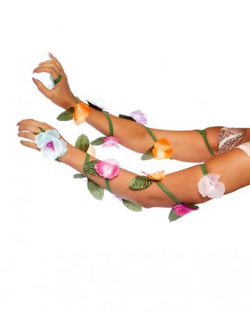 Blumenranken für die Arme als Kostümzubehör