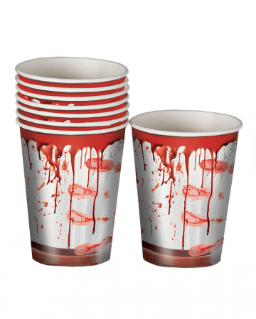 Bloody Party Paper Cup 8 Pieces